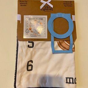 Brand New Baby Blanket Photo Op 3 Piece Set
